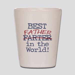 Best Farter Father in the World Shot Glass