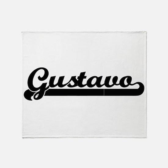 Gustavo Classic Retro Name Design Throw Blanket
