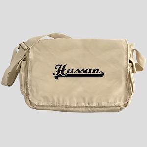 Hassan Classic Retro Name Design Messenger Bag