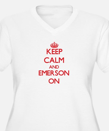 Keep Calm and Emerson ON Plus Size T-Shirt