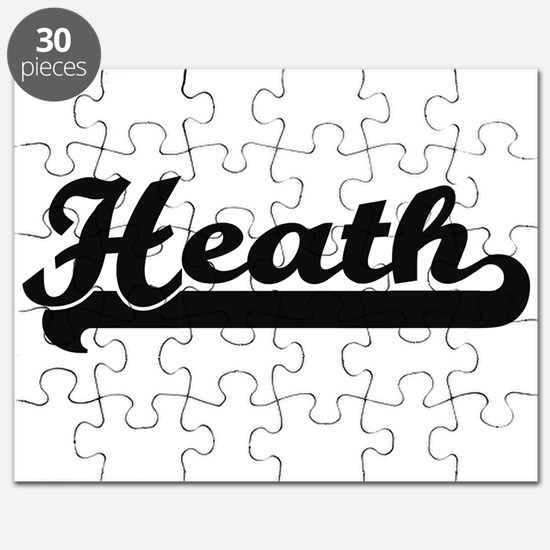 Heath Classic Retro Name Design Puzzle