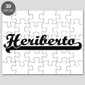 Heriberto Classic Retro Name Design Puzzle