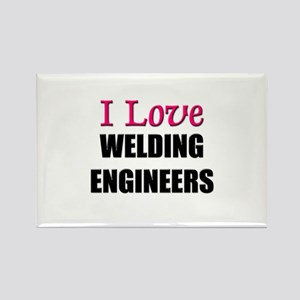 I Love WELDING ENGINEERS Rectangle Magnet