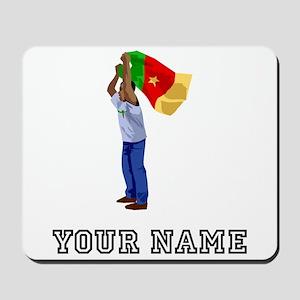 Cameroon Soccer Fan (Custom) Mousepad