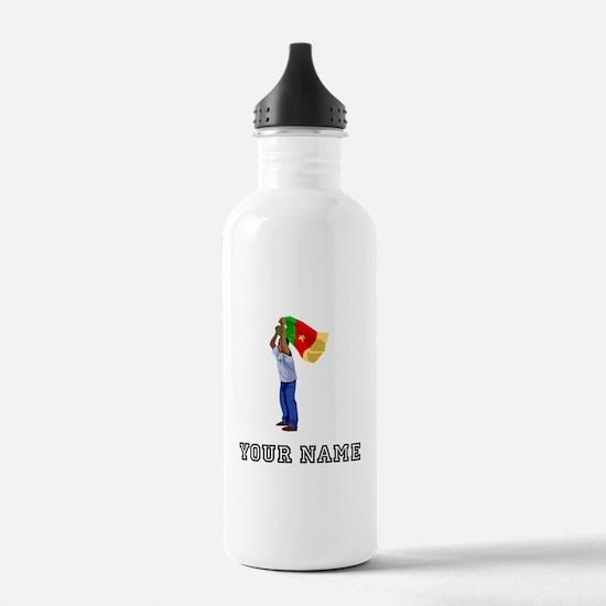 Cameroon Soccer Fan (Custom) Water Bottle