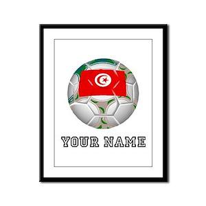 Tunisia Soccer Ball (Custom) Framed Panel Print