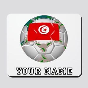 Tunisia Soccer Ball (Custom) Mousepad