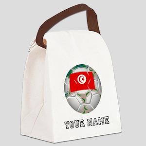 Tunisia Soccer Ball (Custom) Canvas Lunch Bag