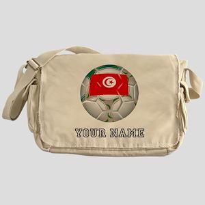 Tunisia Soccer Ball (Custom) Messenger Bag