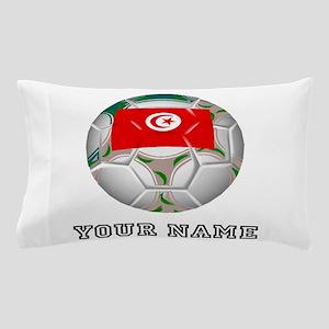 Tunisia Soccer Ball (Custom) Pillow Case