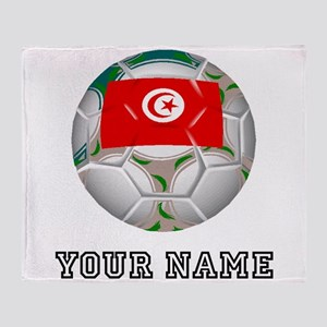 Tunisia Soccer Ball (Custom) Throw Blanket