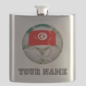 Tunisia Soccer Ball (Custom) Flask