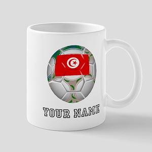 Tunisia Soccer Ball (Custom) Mugs