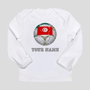 Tunisia Soccer Ball (Custom) Long Sleeve T-Shirt