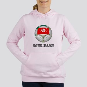 Tunisia Soccer Ball (Custom) Women's Hooded Sweats