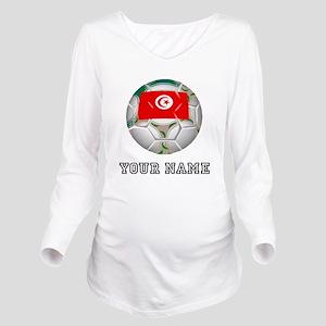 Tunisia Soccer Ball (Custom) Long Sleeve Maternity
