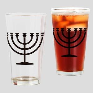 Menorah Drinking Glass