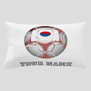 South Korea Soccer Ball (Custom) Pillow Case