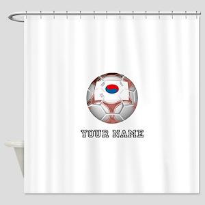 South Korea Soccer Ball (Custom) Shower Curtain