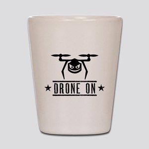 Drone On Shot Glass
