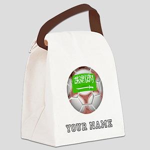 Saudi Arabia Soccer Ball (Custom) Canvas Lunch Bag