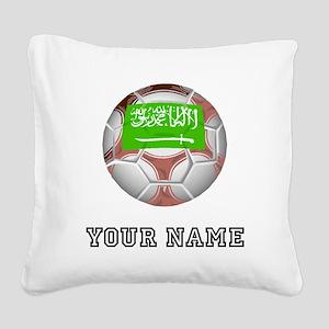 Saudi Arabia Soccer Ball (Custom) Square Canvas Pi