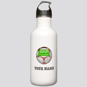 Saudi Arabia Soccer Ball (Custom) Water Bottle