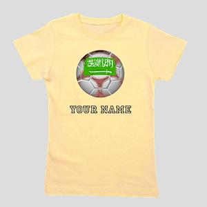 Saudi Arabia Soccer Ball (Custom) Girl's Tee