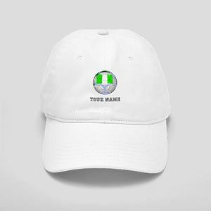 Nigeria Soccer Ball (Custom) Baseball Cap