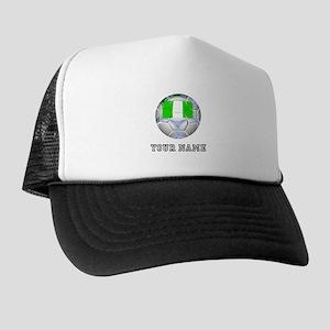 Nigeria Soccer Ball (Custom) Trucker Hat