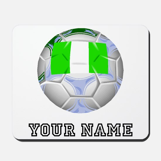 Nigeria Soccer Ball (Custom) Mousepad