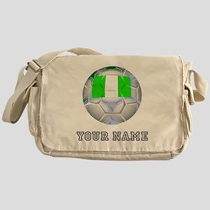 Nigeria Soccer Ball (Custom) Messenger Bag