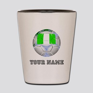 Nigeria Soccer Ball (Custom) Shot Glass