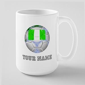 Nigeria Soccer Ball (Custom) Mugs
