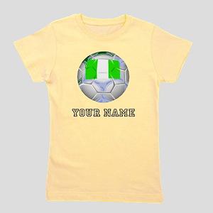 Nigeria Soccer Ball (Custom) Girl's Tee
