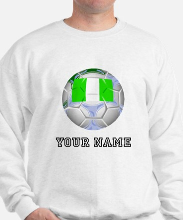 Nigeria Soccer Ball (Custom) Sweatshirt