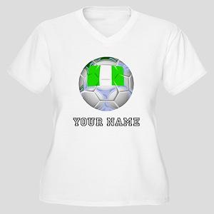 Nigeria Soccer Ball (Custom) Plus Size T-Shirt