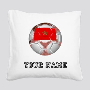 Morocco Soccer Ball (Custom) Square Canvas Pillow