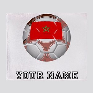 Morocco Soccer Ball (Custom) Throw Blanket
