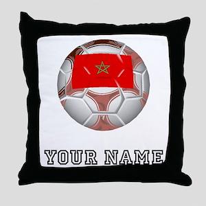 Morocco Soccer Ball (Custom) Throw Pillow