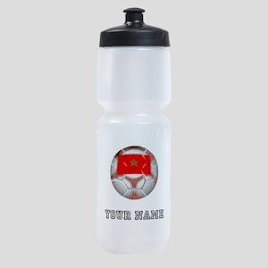 Morocco Soccer Ball (Custom) Sports Bottle