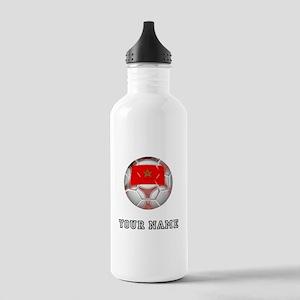 Morocco Soccer Ball (Custom) Water Bottle