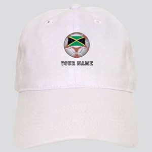 Jamaica Soccer Ball (Custom) Baseball Cap