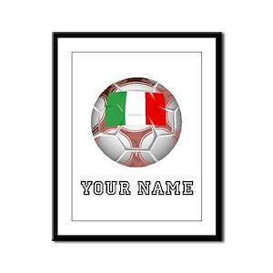 Italy Soccer Ball (Custom) Framed Panel Print
