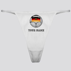 Germany Soccer Ball (Custom) Classic Thong