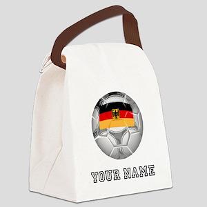 Germany Soccer Ball (Custom) Canvas Lunch Bag