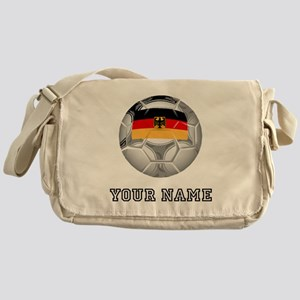 Germany Soccer Ball (Custom) Messenger Bag