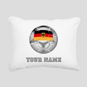 Germany Soccer Ball (Custom) Rectangular Canvas Pi