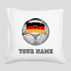 Germany Soccer Ball (Custom) Square Canvas Pillow
