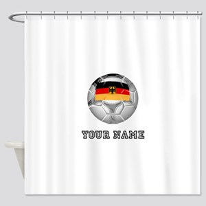 Germany Soccer Ball (Custom) Shower Curtain